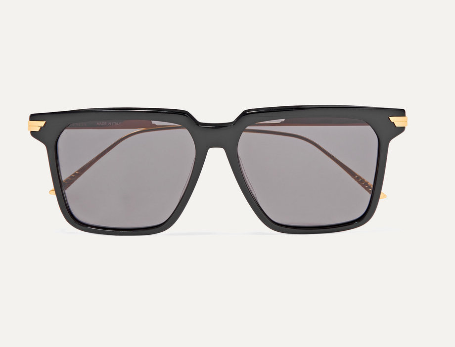 Light Ribbon square-frame acetate and gold-tone sunglasses