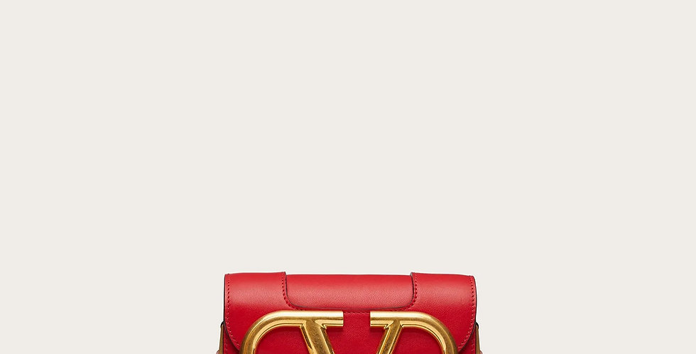 Small VS red leather crossbody bag