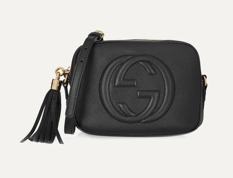 GSD textured-leather shoulder bag