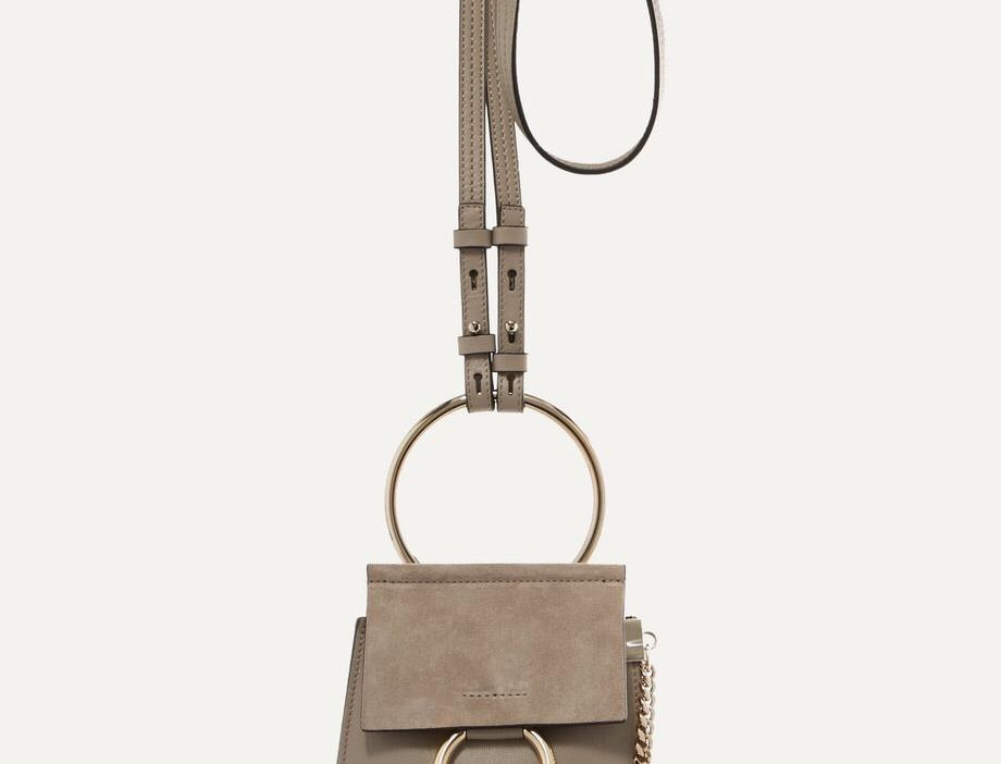 CF Bracelet leather and suede shoulder bag