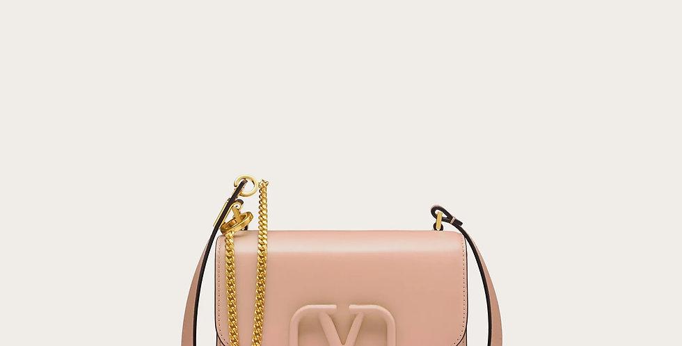 Rose cannelle small VV shoulder bag