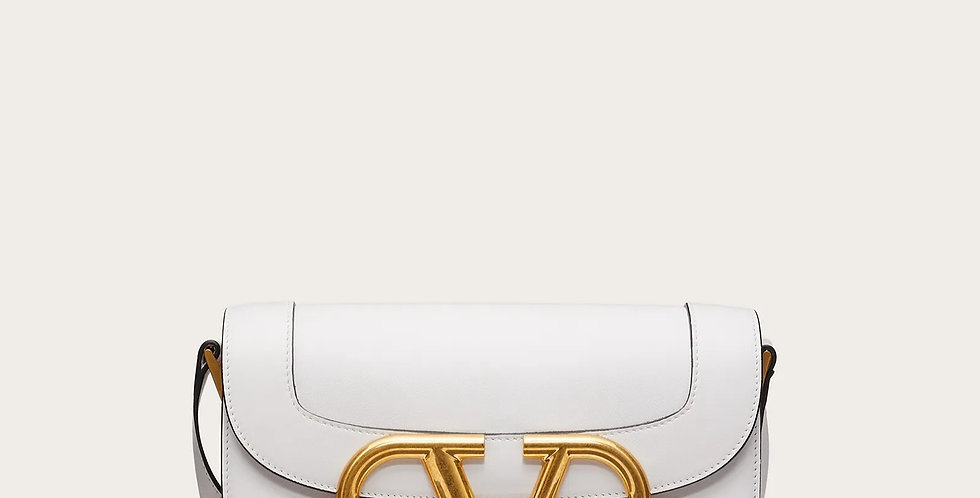 White VS leather crossbody bag