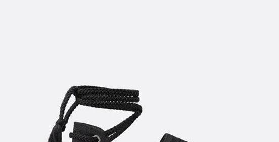Black DG espadrille with laces