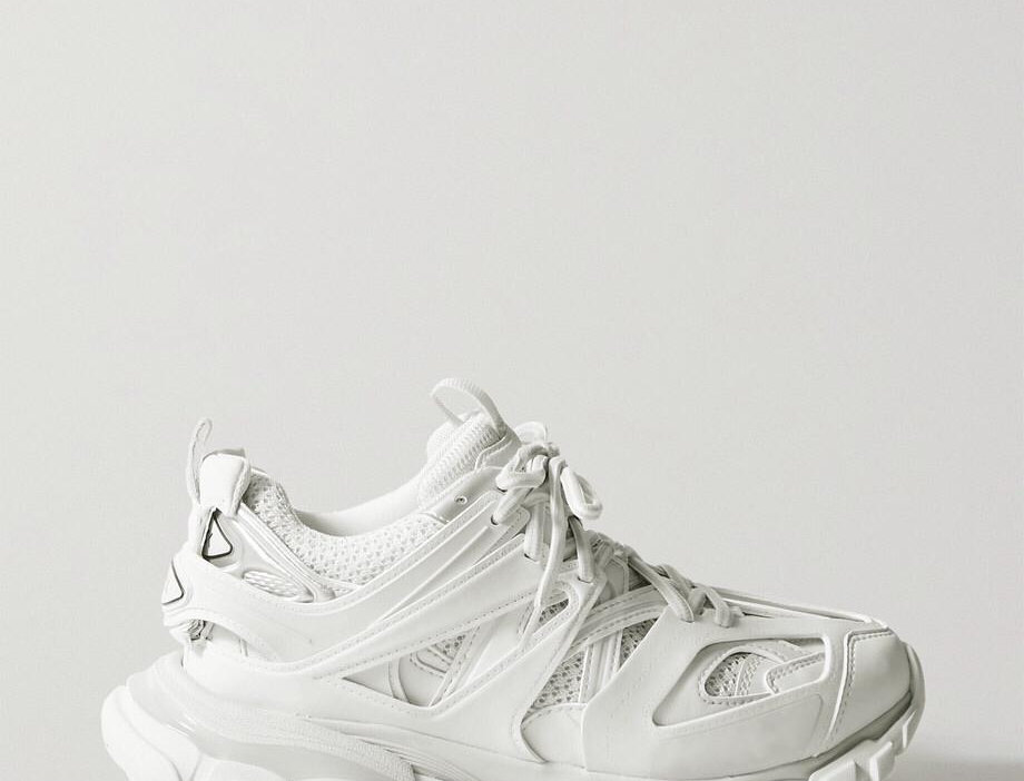 Track Mesh And Rubber Sneakers