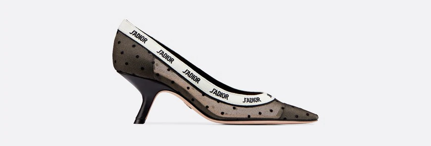 Black and nude JD plumetis pump