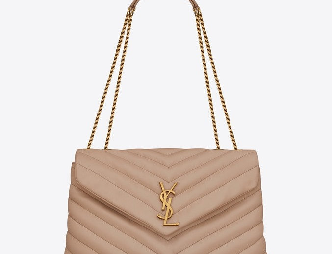 Beige Loulou medium bag with gold hardware