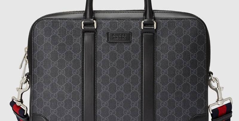 Black G briefcase