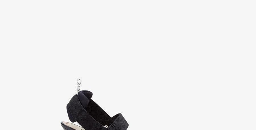 Colibrì F in mesh and black leather slingbacks