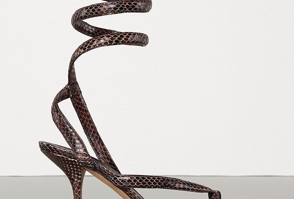 BV Snake-effect leather sandals