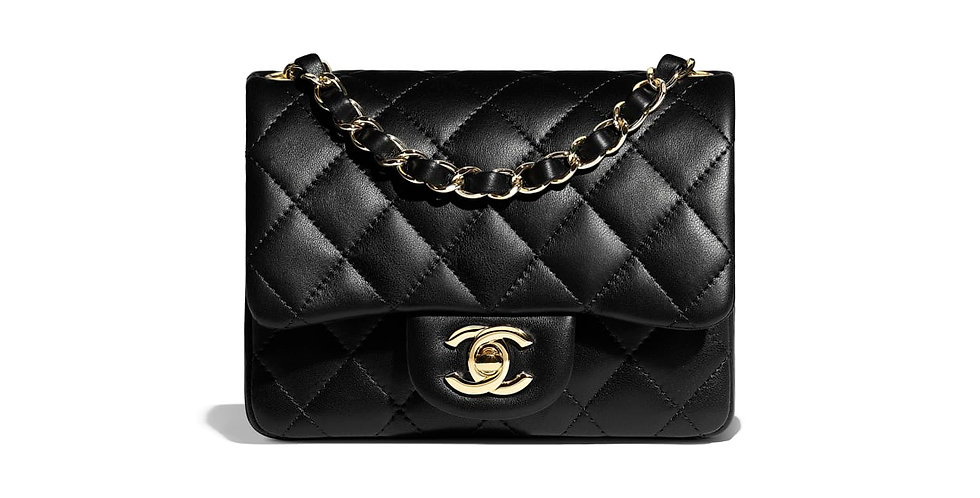 Black classic mini flap bag