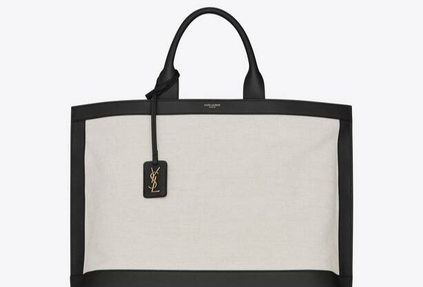 Off white shopping tag in canvas and leather