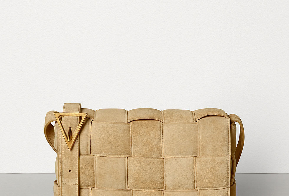 Sand BC padded shoulder bag