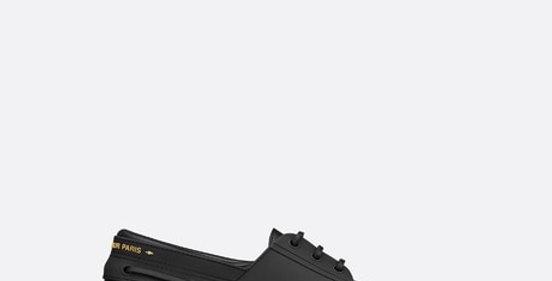 Black D walker boat shoe