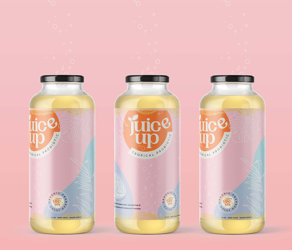 Juice Up Product Packaging and Logo Design