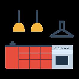 自宅のキッチン