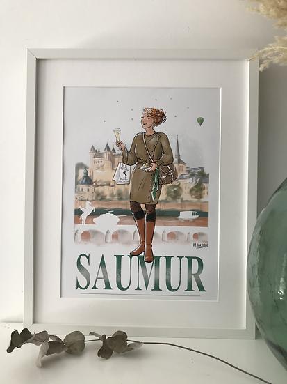 Saumur - affiche, carte postale