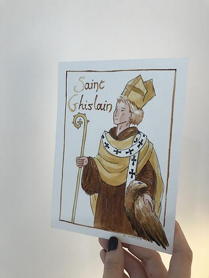 Aquarelle originale saint Ghislain