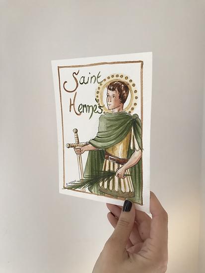 Aquarelle originale saint Hermès
