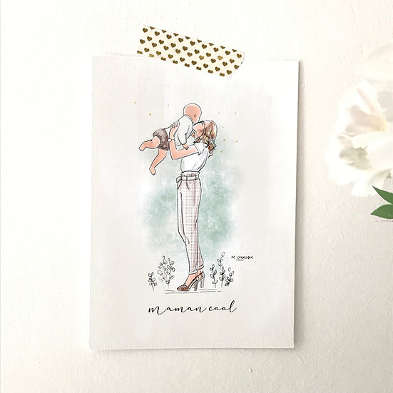 Carte postale maman cool