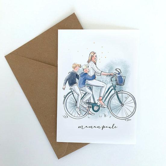 Carte postale maman poule