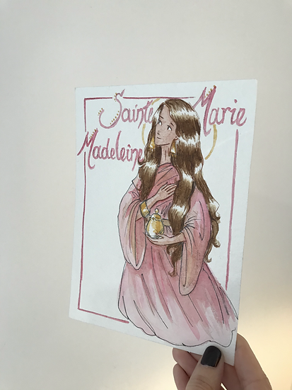 Aquarelle originale sainte Marie-Madeleine