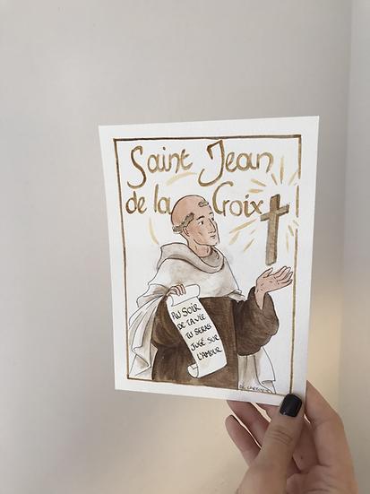 Aquarelle originale saint Jean de la Croix