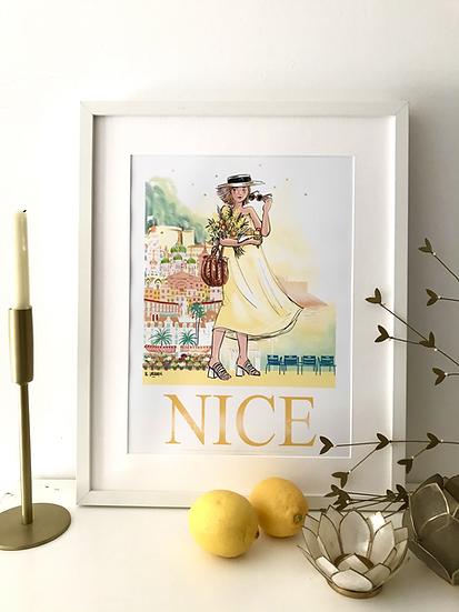 Nice - affiche, carte postale
