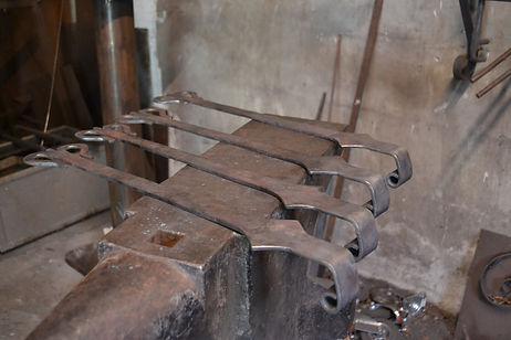 Scharnierwerk voor een oude orgel