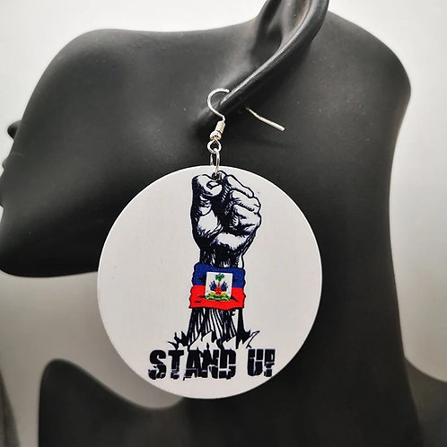 Haiti stand up Earring