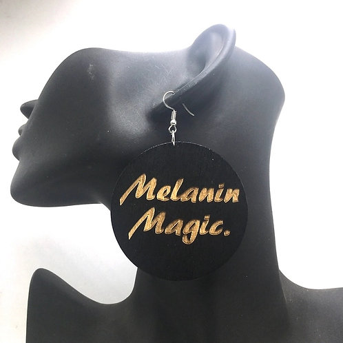 Melanin Magic Wooden Earrings