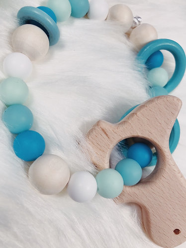 Blue baby teether