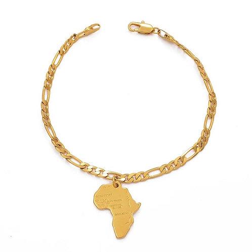 African map bracelet
