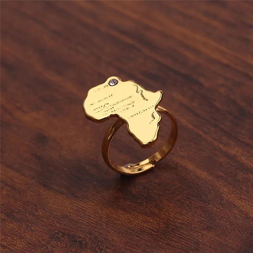 Africa map ring