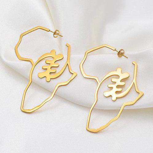 Medium Gye Nyame earring