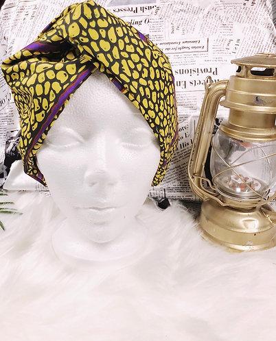 Avafia crossed Oversized Ankara turban