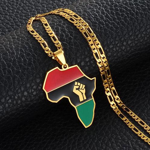 Black lives Africa necklace