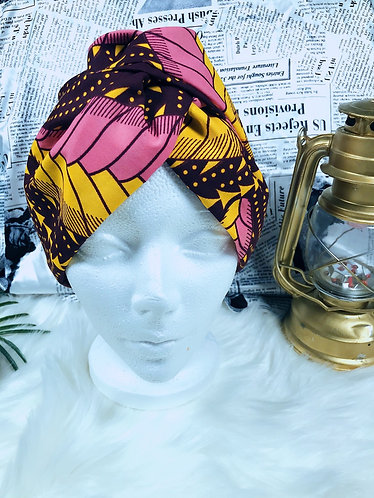 Amele crossed Oversized Ankara turban