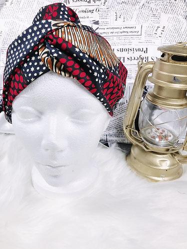 Madje crossed Oversized Ankara turban