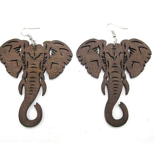 Elephant Wood Earrings
