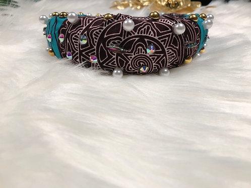 Ankara oversized beaded headband