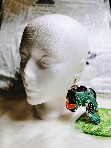 Abla Wire Wrap Ankara earrings