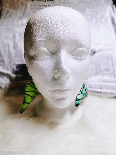 Skiby two tones Ankara earrings