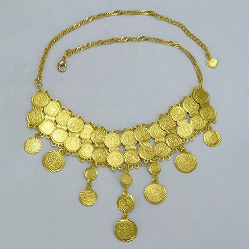 Asante gold coins necklace