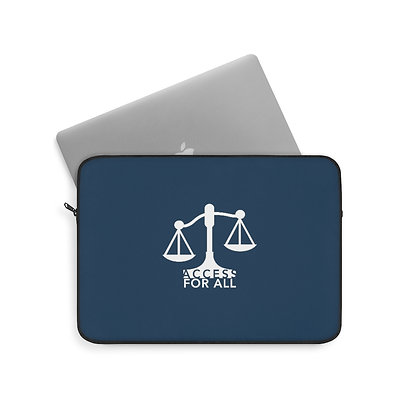 "Access for All 13""/33 cm Navy Laptop Sleeve"