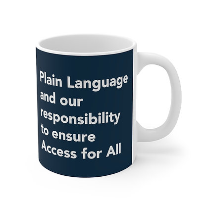 Plain Language and our responsibility to ensure Access for All Mug Navy