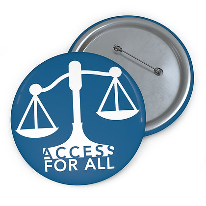 """Access for All 3"""" Button Blue"""