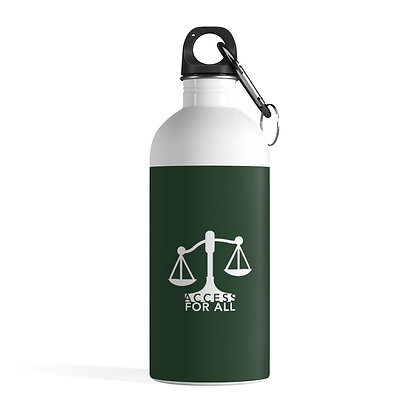 Access for All Stainless Steel Water Bottle 0.41 L Forest Green