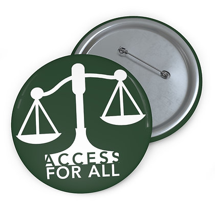 """Access for All 3"""" Button Forest Green"""