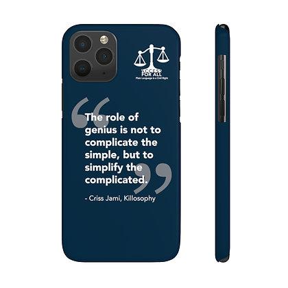 Killosophy Quote Phone Case