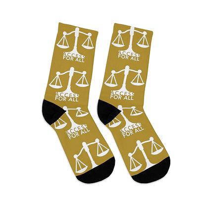 Access for All Gold Logo Socks